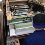 大昇印刷さんでシルク印刷のテスト刷り